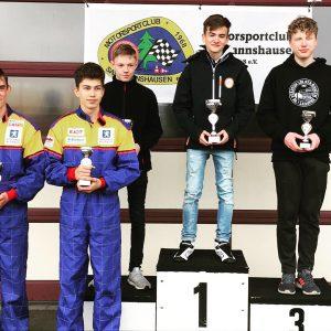 K4-Fahrer Theo Stahlhacke auf dem ersten Platz