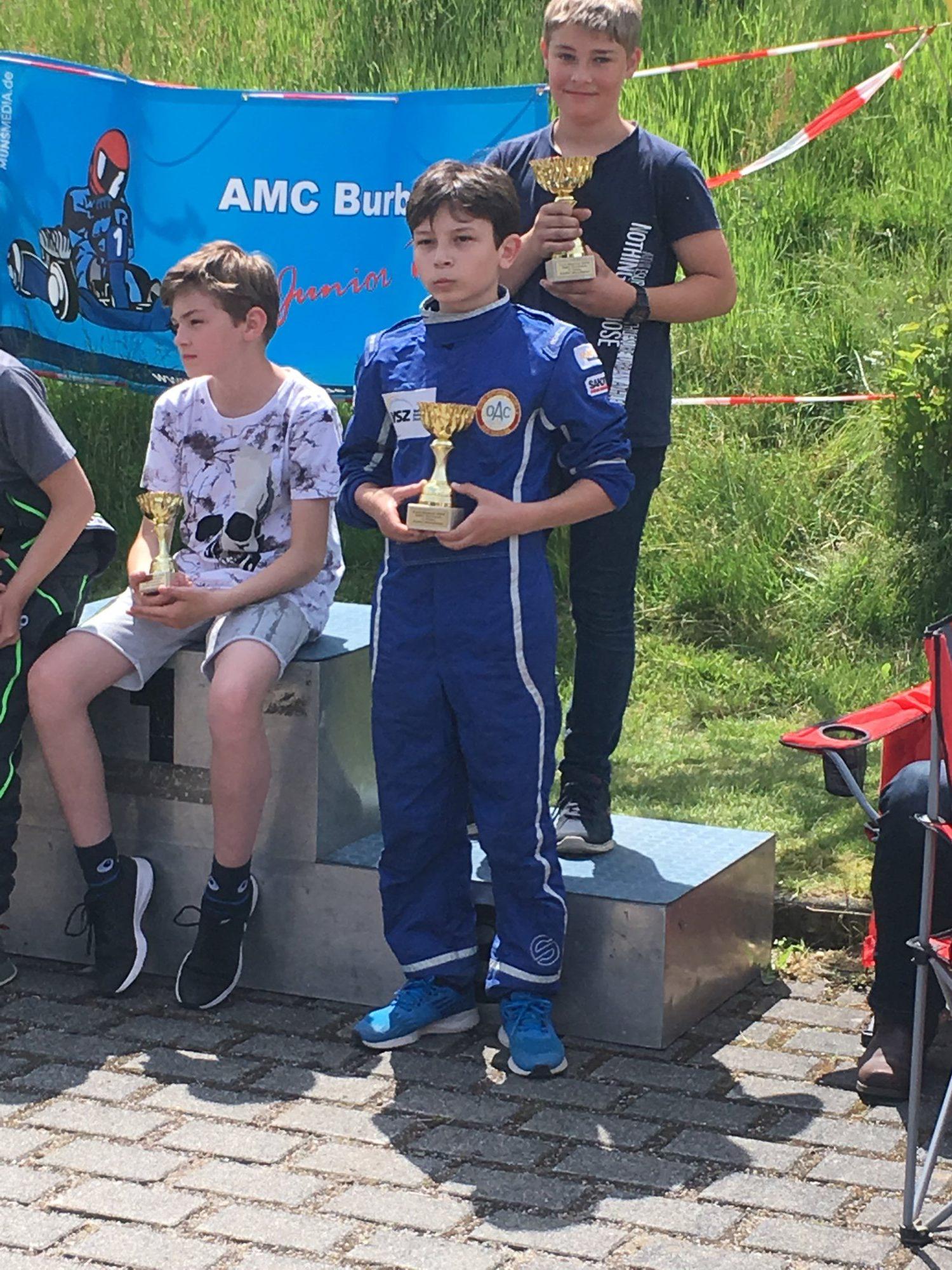 Siegerehrung ADAC Kartslalom Burbach, K3 OAC