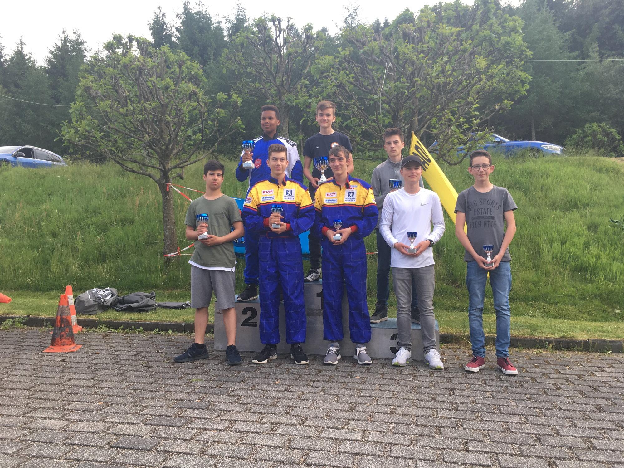 Siegerehrung ADAC Kartslalom Burbach-Oeventrop, K4-2 OAC