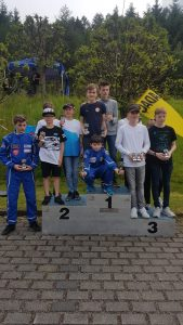 Siegerehrung ADAC Kartslalom Burbach, Team1 OAC