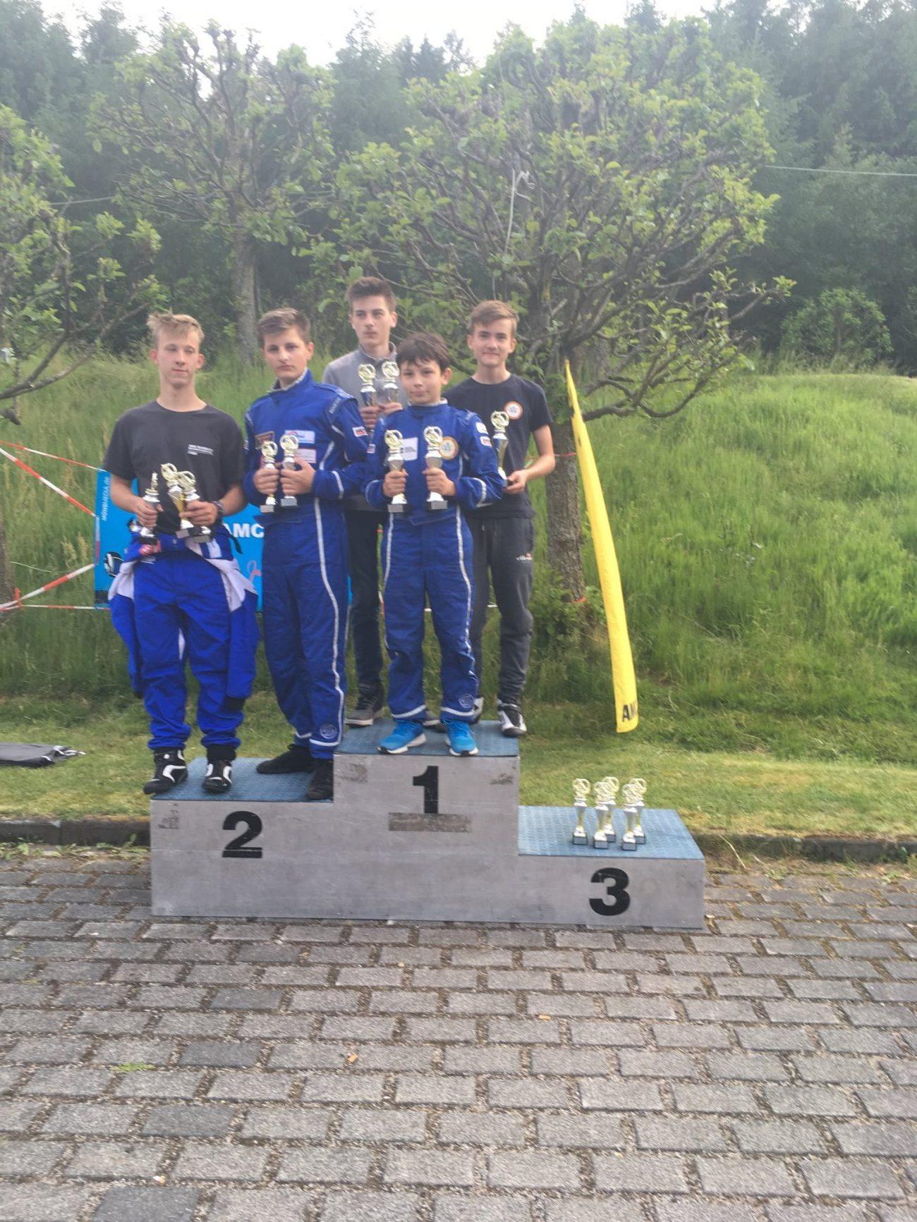 Siegerehrung ADAC Kartslalom Burbach, Team2 OAC