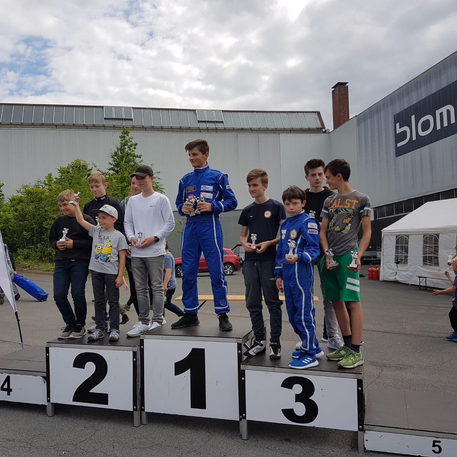 Siegerehrung ADAC Kartslalom Oeventrop, Team OAC 3