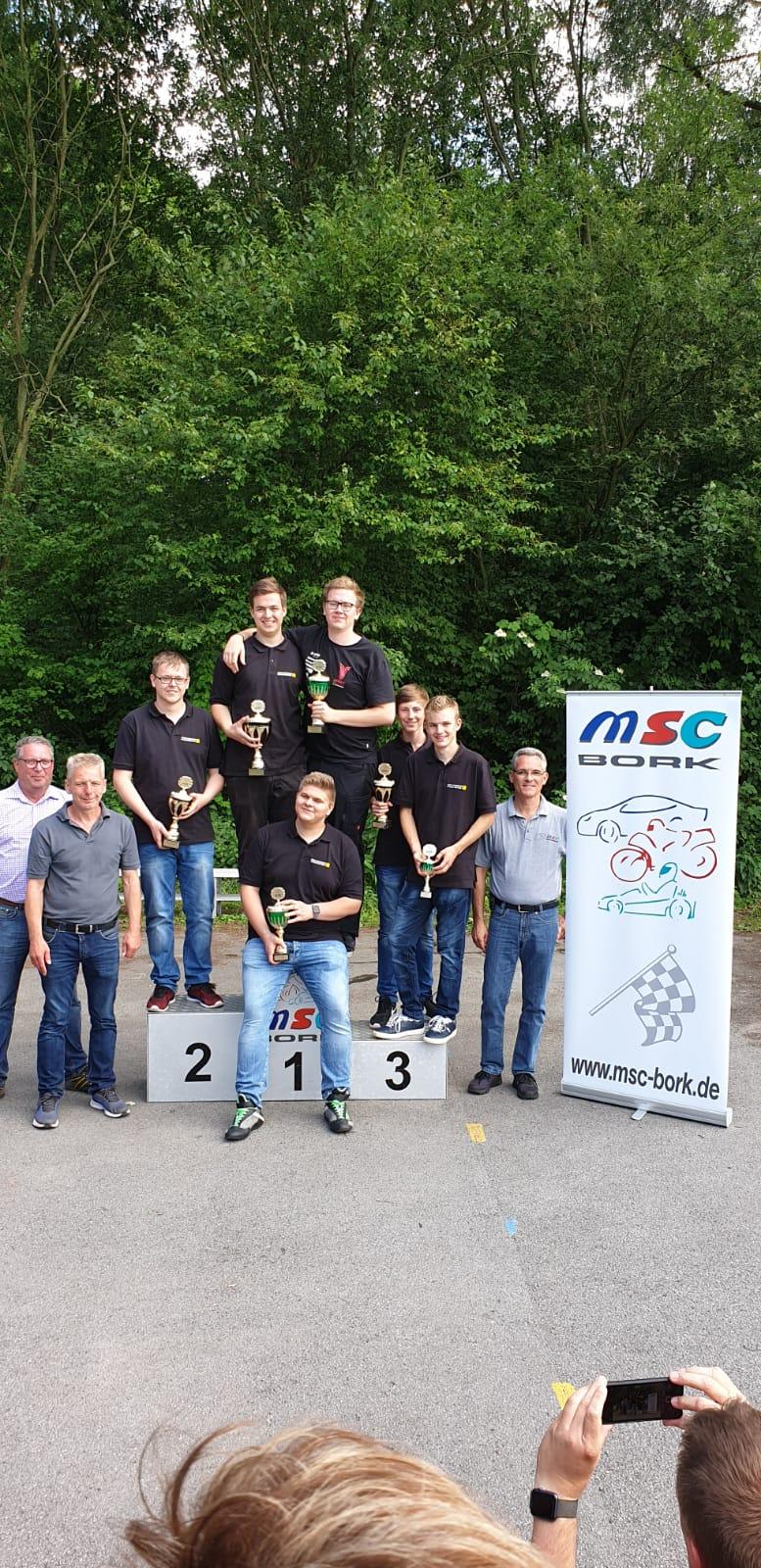 Siegerehrung ADAC Youngster Team OAC 1